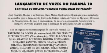 """Dr. Muricy no Livro """"VOZES DO PARANÁ – Retratos de Paranaenses"""""""